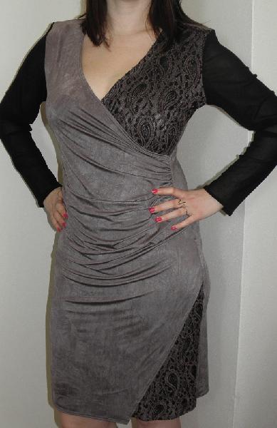 Zavinovací šaty s krásnou bavlněnou krajkou 1b4cbfaed4